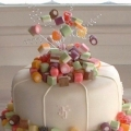 Wedding cake (with dolly mixtures)