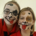 Face painting at Eurotunnel for torch relay