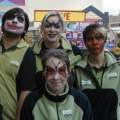 Face painting at Pets at Home store opening
